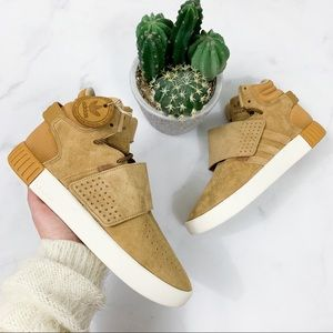 Adidas Leather Tubular Invader Strap J Sneakers